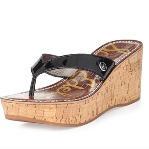 3ff2ddddd7ab Sam Edelman Romy Black Wedge Sandals Size 8.5. M 5a9bf4f08af1c529bf0e5568